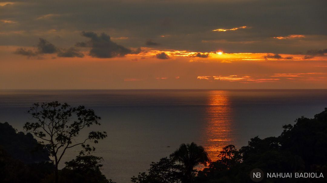 Puesta de Sol desde el hoste Buena Vista, Costa Rica