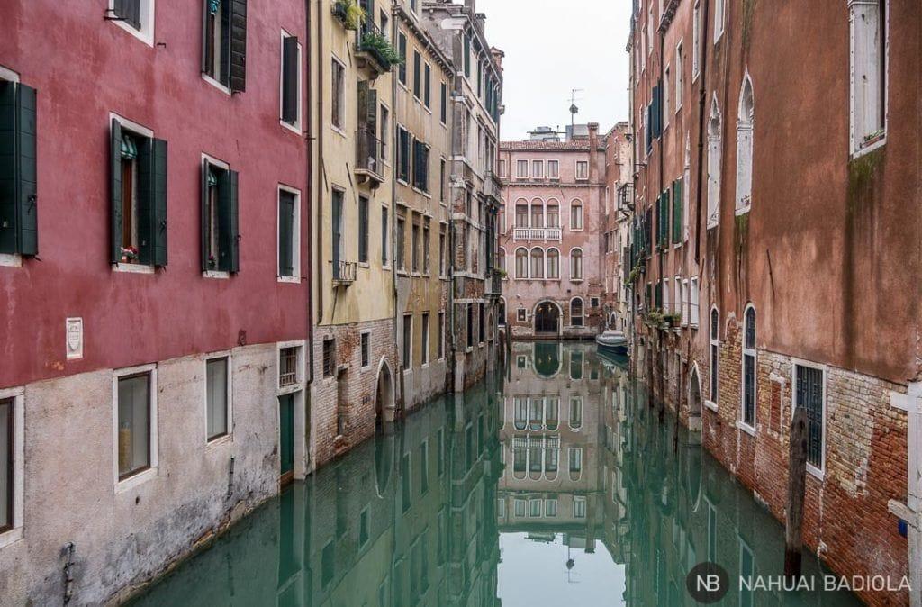 Canal veneciano entre los distritos de San Marcos y Castello