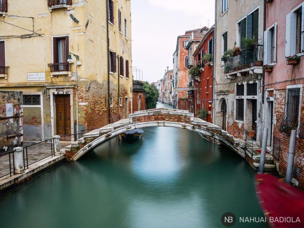 Puente sin barandillas, Venecia