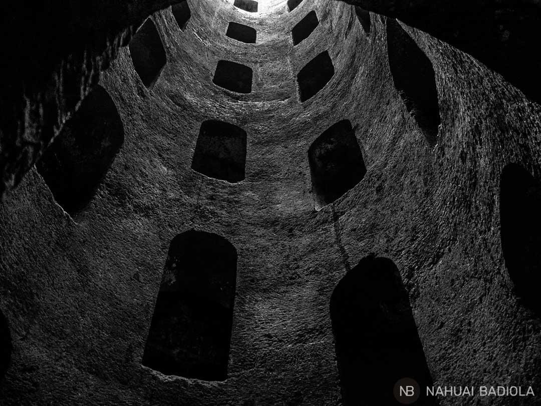 El pozo etrusco de Orvieto, Italia