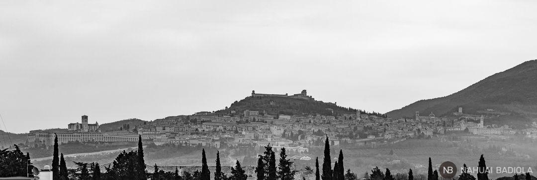 Vista de Asis desde Santa Maria degli Angeli