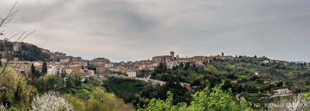 Panoramica de Perugia, en Italia