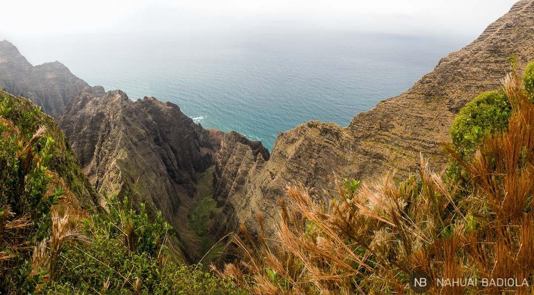 Mirador sobre el Nualolo Valley, Hawaii
