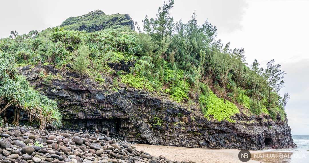 Playa de Hanakapiai en Hawaii, Kauai