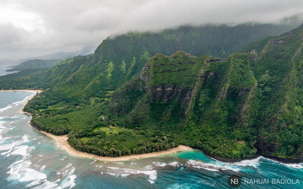 Vistas de Kee Beach, Kauai, Hawaii