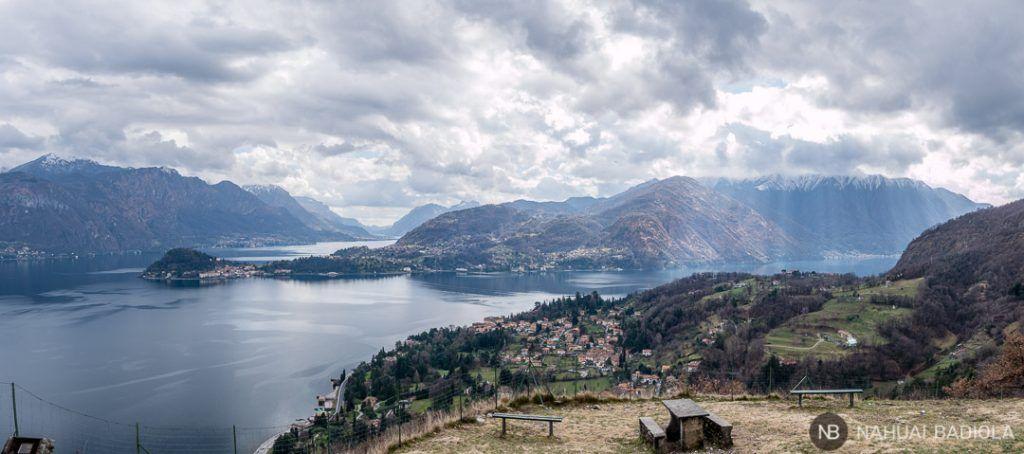 Panoramica desde la iglesia San Martino Lago de Como