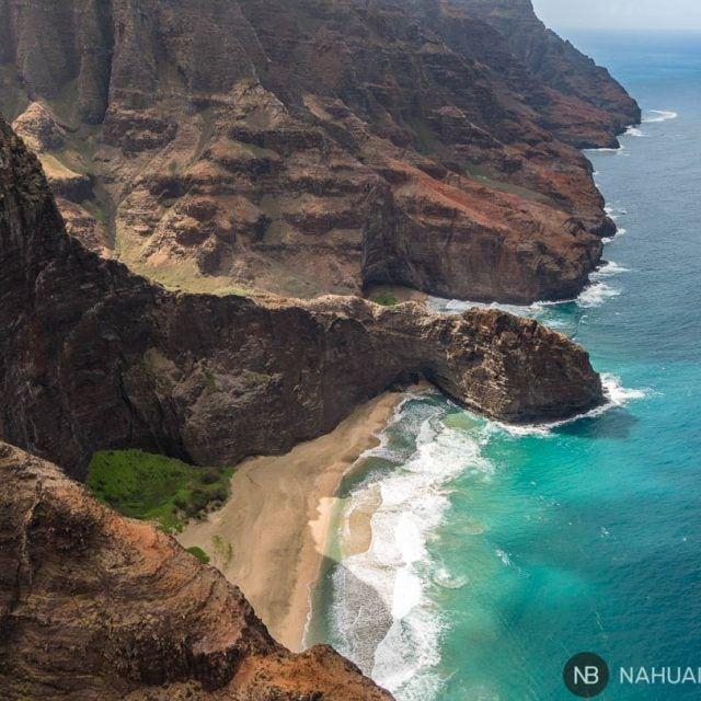 Costa Napali vista desde el helicóptero sin puertas, Kauai