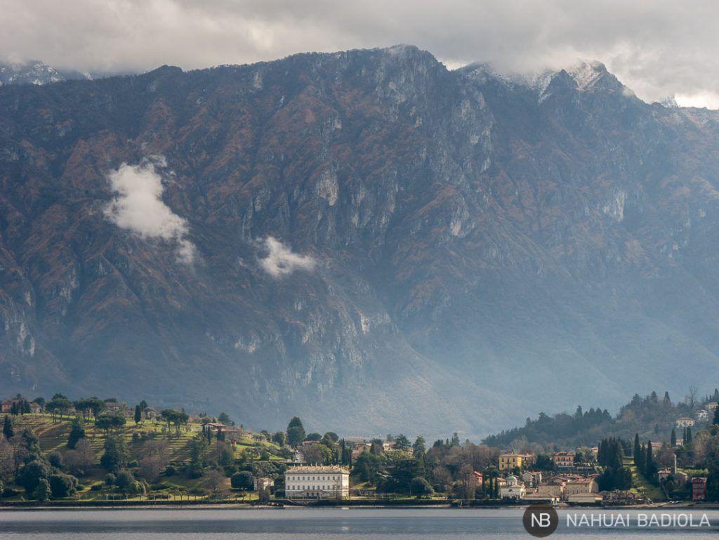 Uno de los palacios junto al lago de Como en Bellagio