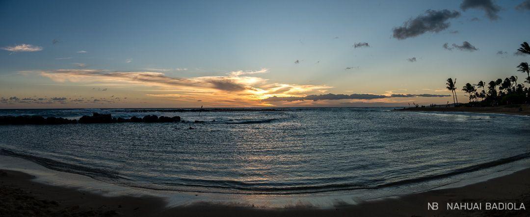 Puesta de sol desde Poipu Beach, kauai