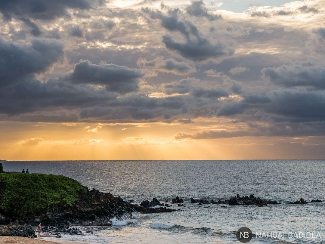 Puesta de sol en Wailea Beach, Maui