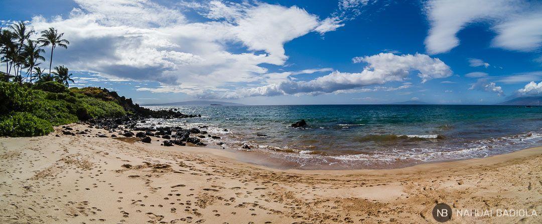Panorámica de Palauea Beach, extremo sur, Maui.