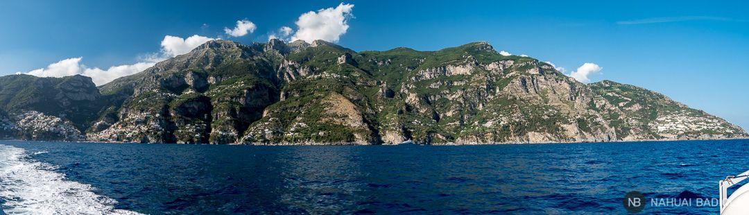 Panorámica de la Costa Amalfitana tras salir de Positano.