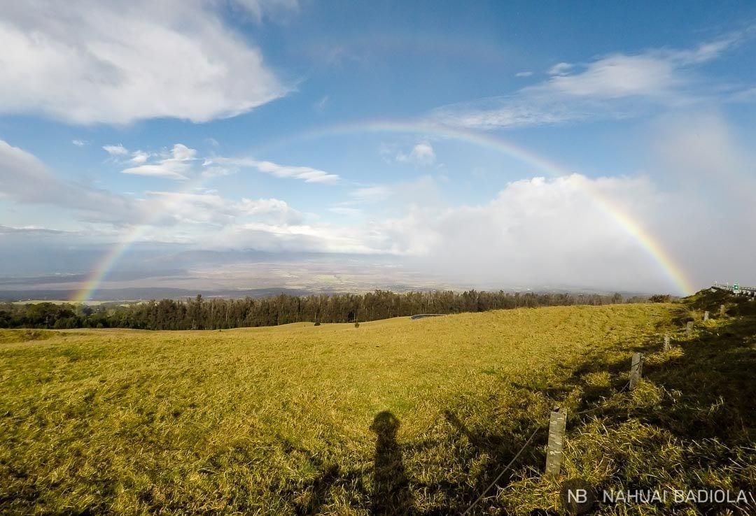 Arcoiris que apareció tras la pesadilla de amanecer en el Haleakala.