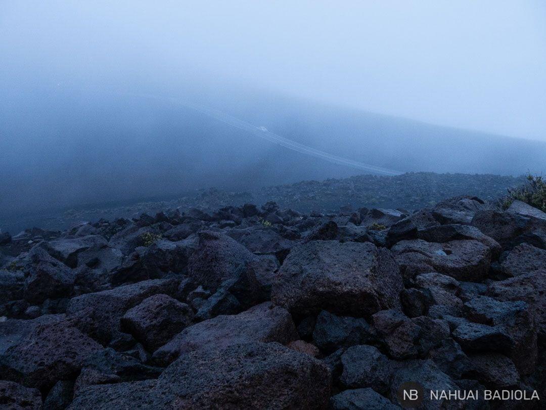 La niebla no permitió ver el amacer en Haleakala.