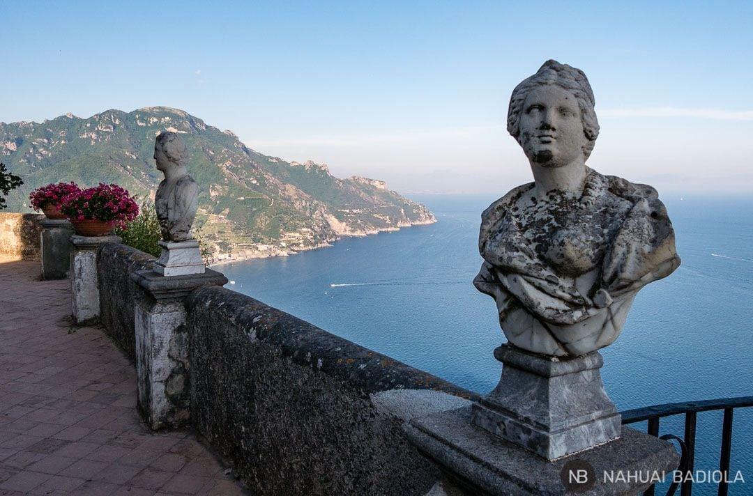 La famosa terraza del infinito, en los jardines de la villa Cimbrone, Ravello.