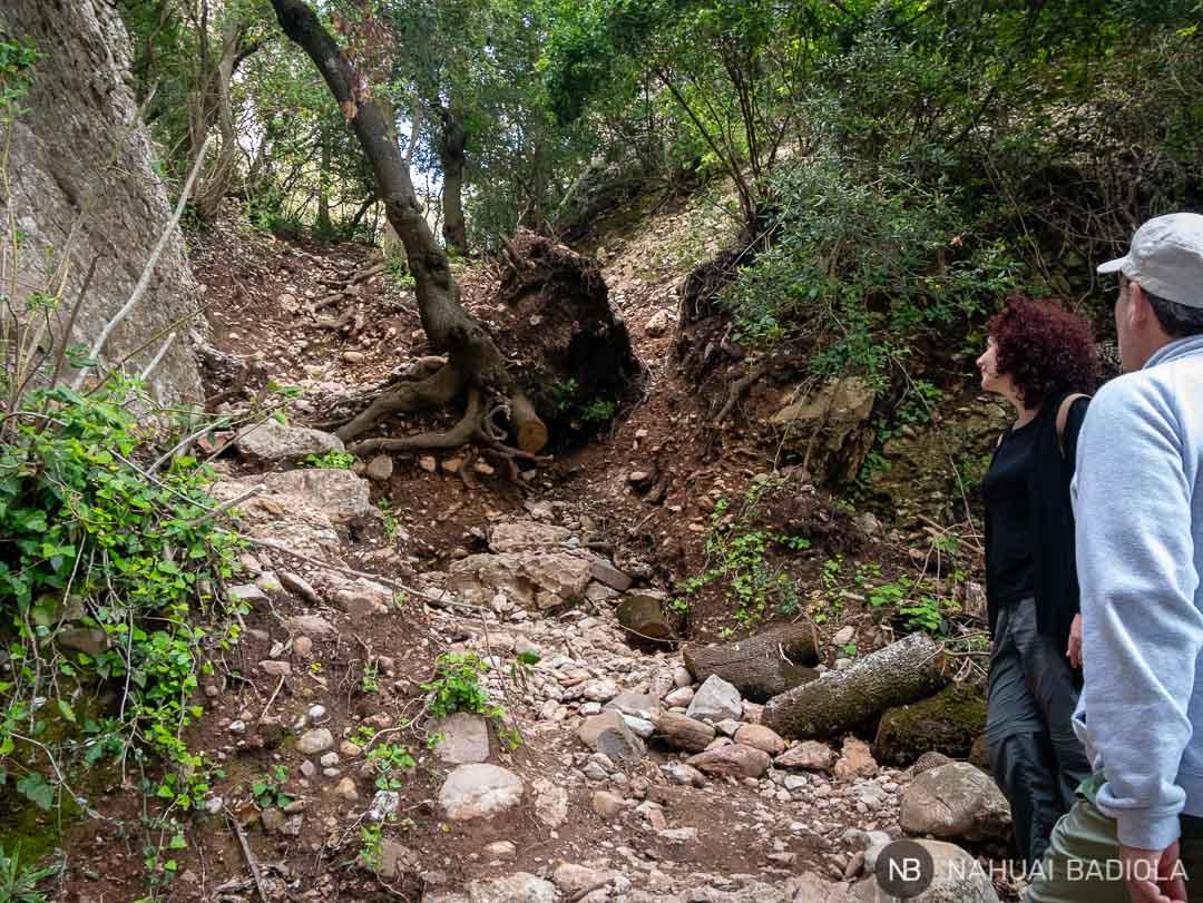 Estado del camino sobre las escaleras de Jacob, antes de llegar a Santa Magdalena