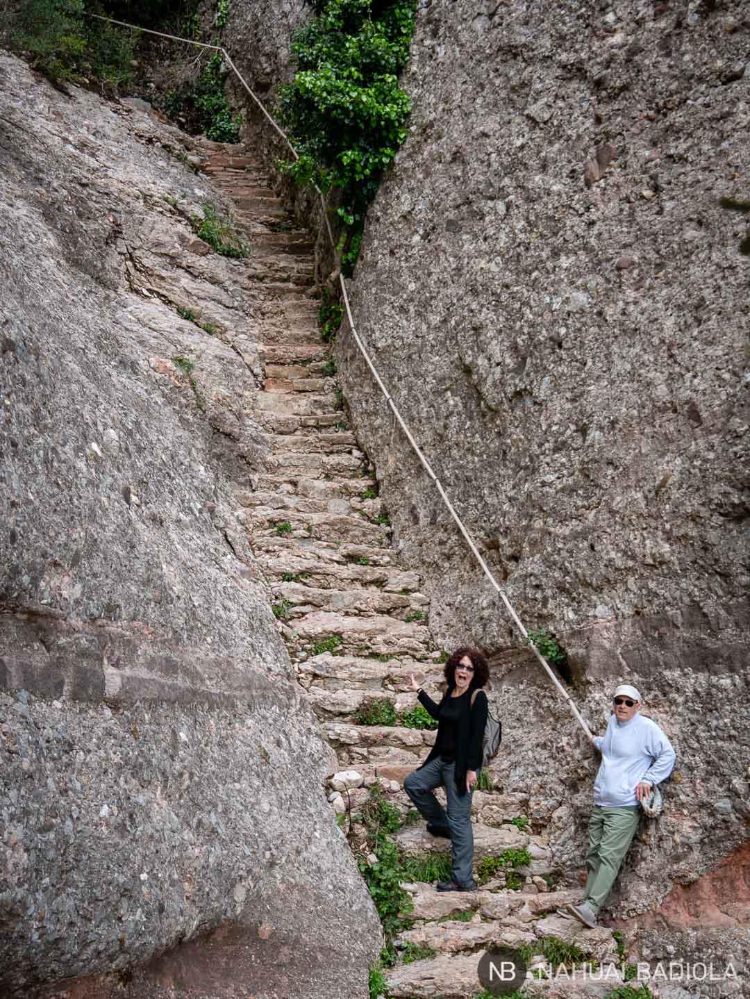 Escaleras de Jacob que suben desde Sant Joan y Sant Onofre a la ermita de Santa Magdalena