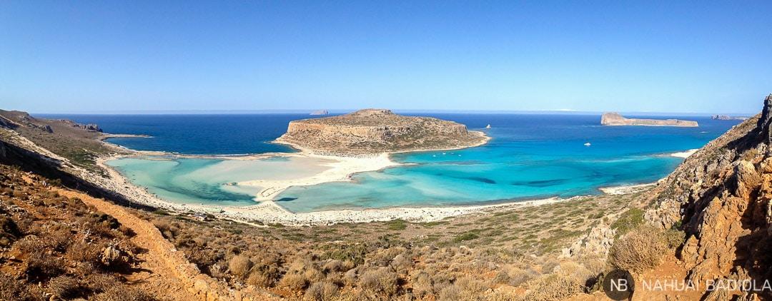 Panorámica de la playa de Balos, en Creta.