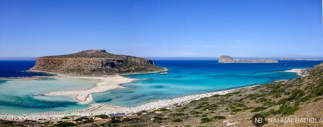 Vista panorámica parcial de la playa de Balos, en Creta.