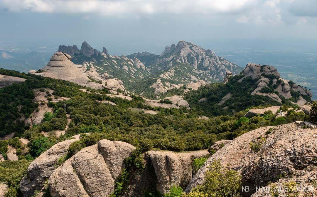Vistas finales de la ruta circular a Sant Jeroni, Montserrat.