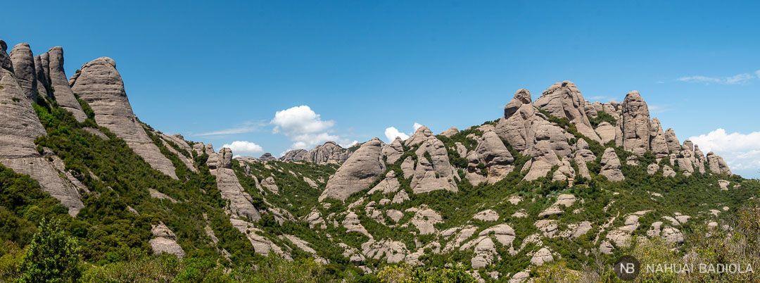 Agujas de Montserrat al inicio del camino que lleva a Sant Jeroni
