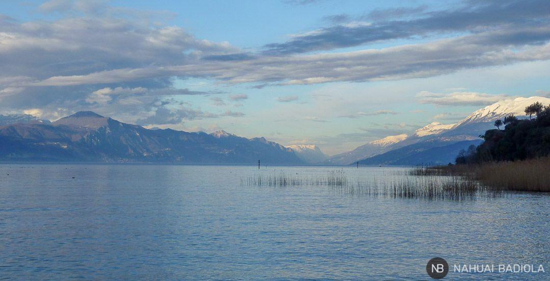 Vistas de las montañas que rodean el norte del Lago de Garda.