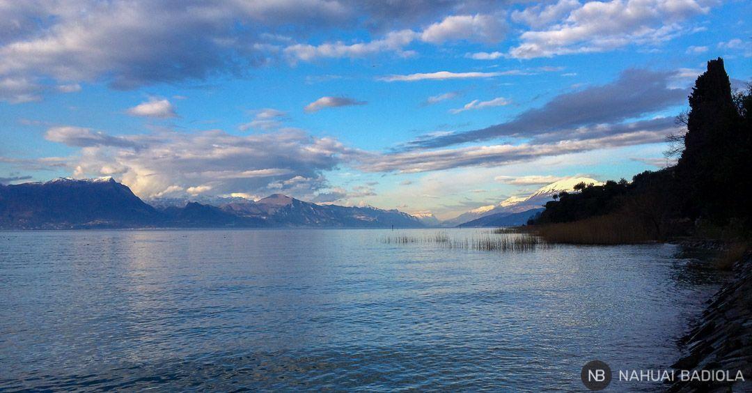 Montañas al norte del lago de Garda.