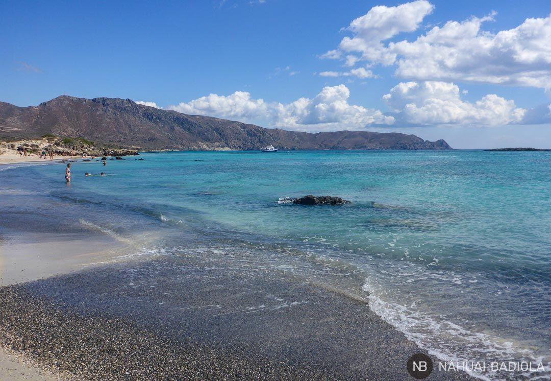 Paisaje montañoso junto a la playa Elafonisi