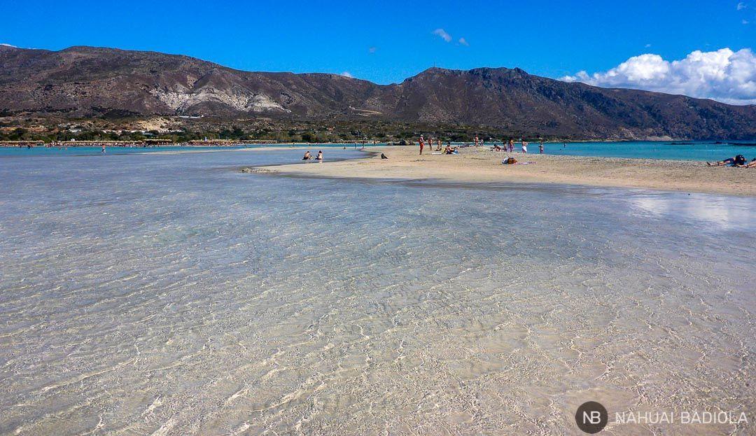 Lagunas en la playa de Elafonisi