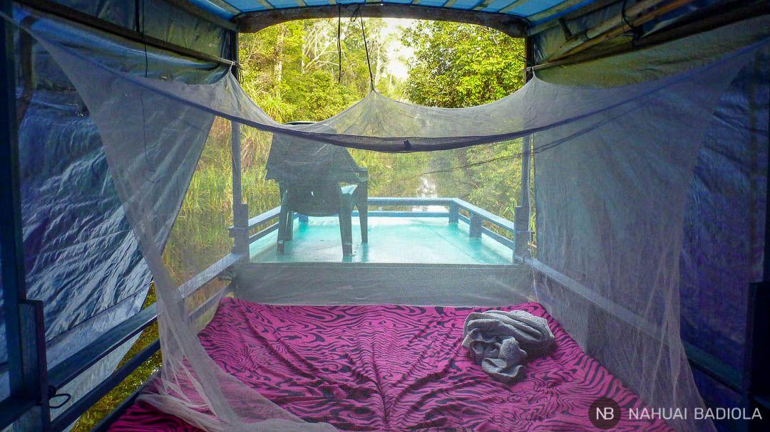 Dormir en un klotok en Tangjung Puting, Borneo.