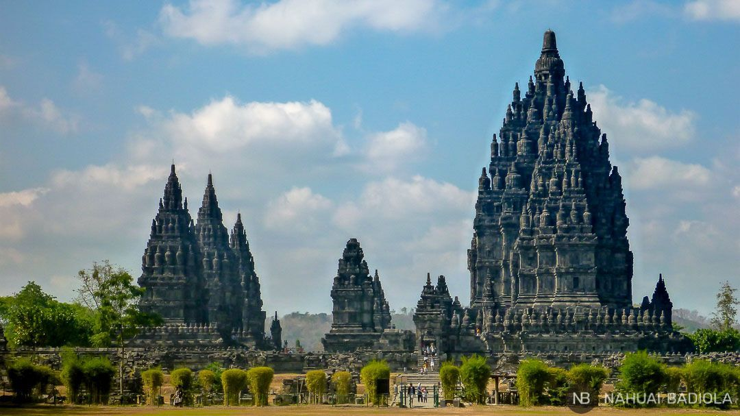 Templos de Prambanan en Java, Indonesia.