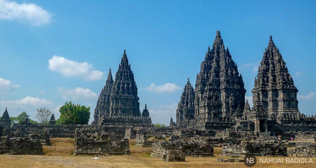 Templos hindús de Prambanan en Indonesia