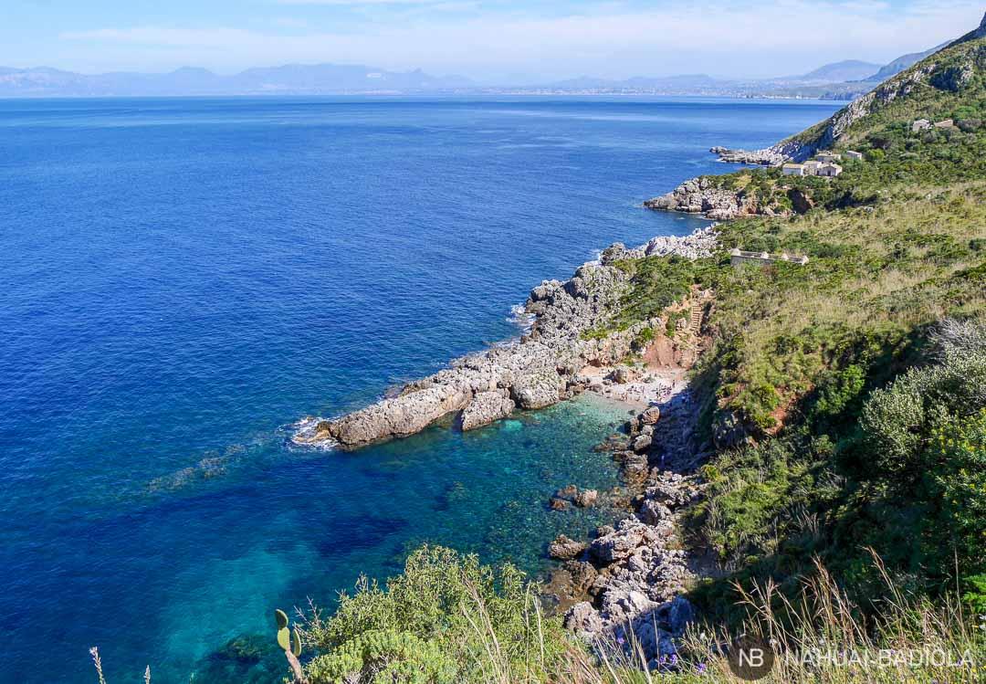 Cala Marinera en la reserva del Zíngaro, Sicilia.