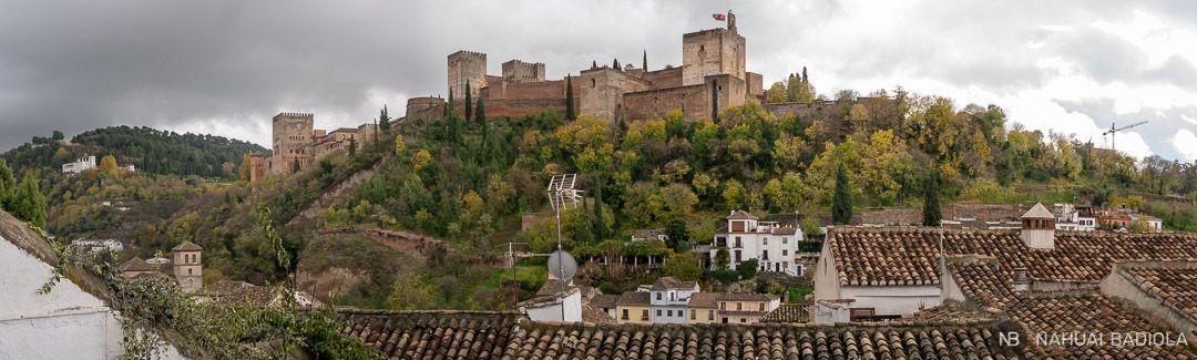 Vistas de la Alhambra desde el mirador de los Carvajales.