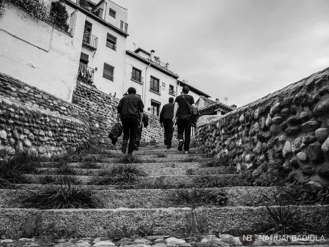 Camino al lavadero de puerta del Sol en Granada.