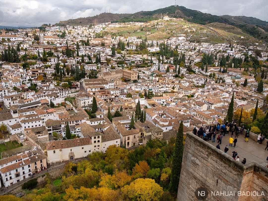 Vistas de Granada desde la torre de la Vela.