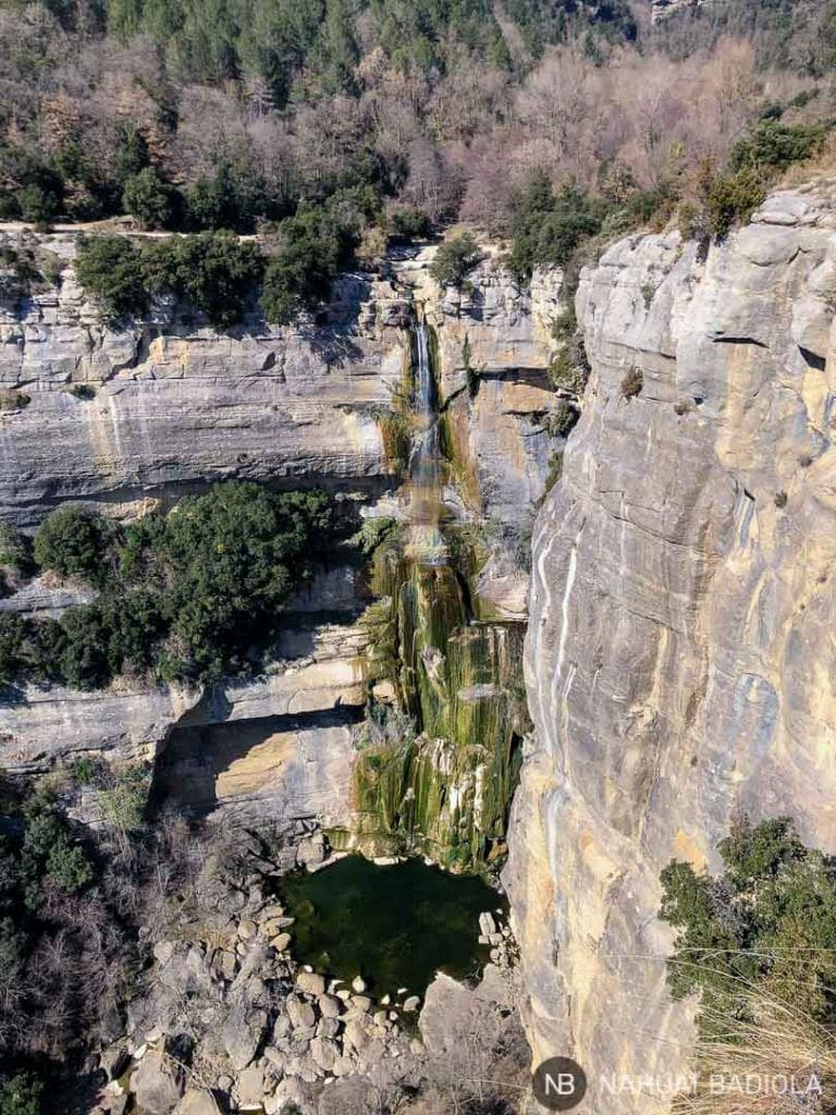 Cascada Salt del Sallent desde el mirador