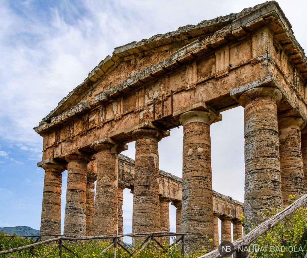 Fachada del templo de Segesta, Sicilia.