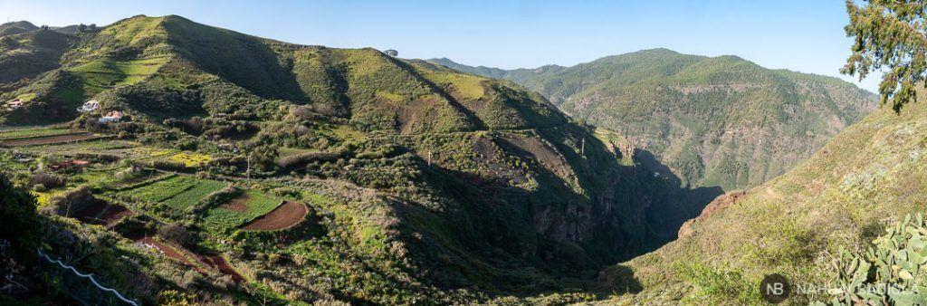Panorama del Barranco de Sao desde Casa Cueva Lola