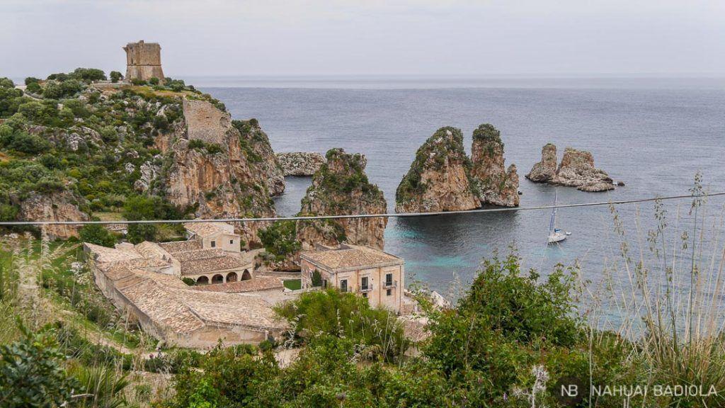 Costa de la Tonnara di Scopello, norte de Sicilia.