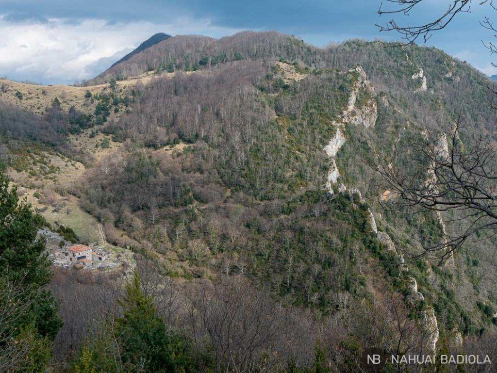 Vistas sendero circular Beget-Rocabruna