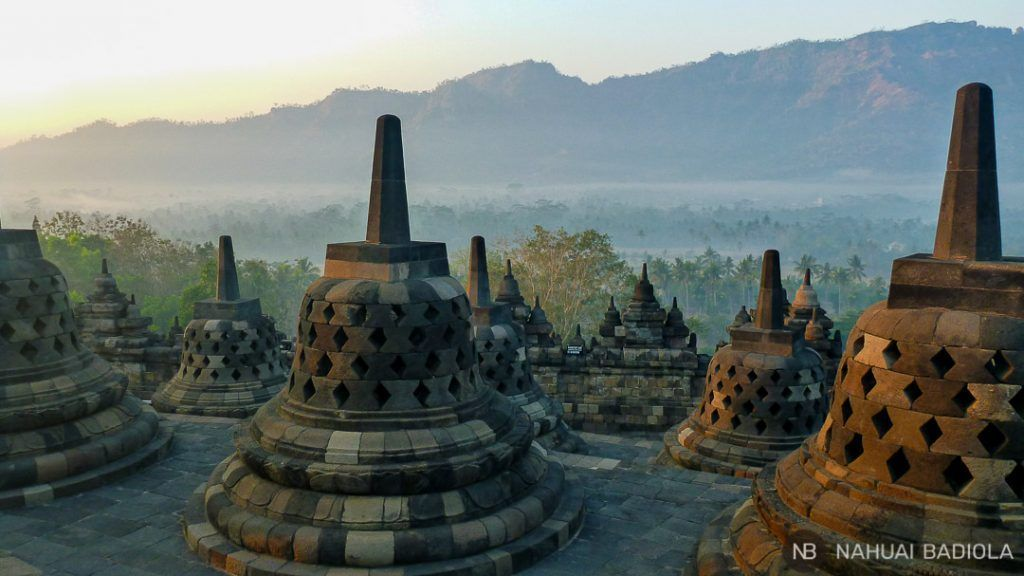 Templo budista Borobudur, Java.