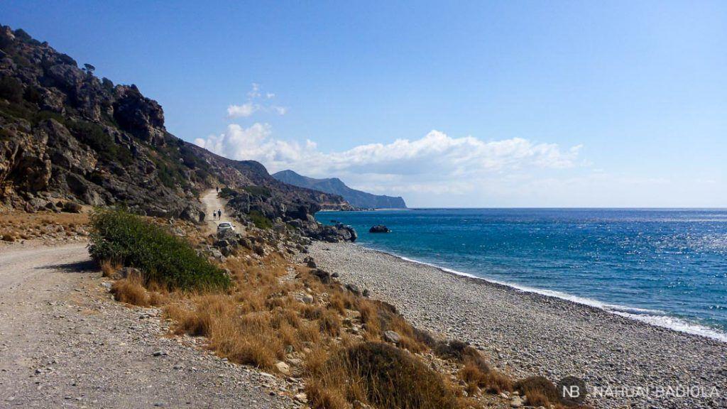 Camino entre Paleochora y Sandy Beach