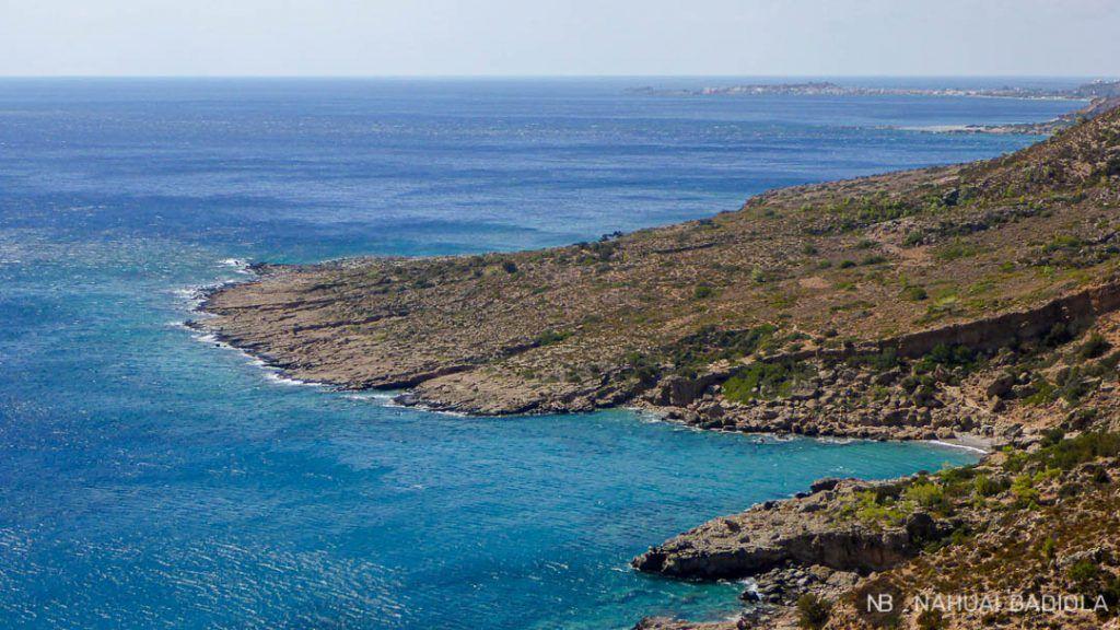 Cala de arena en el sendero E4, Creta