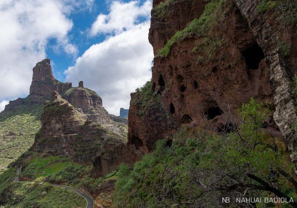 Perspectiva de las cuevas del Rey desde el interior