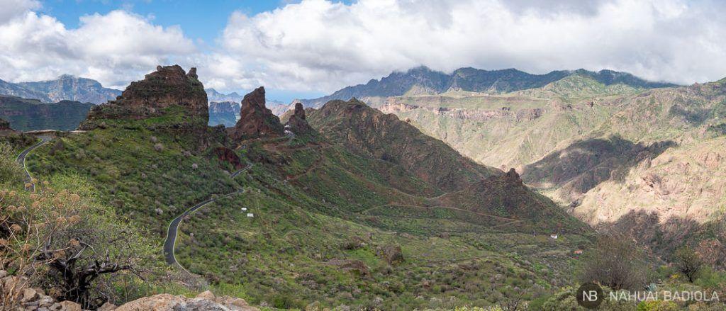 Vista panorámica de las cuevas del Rey, Gran Canaria