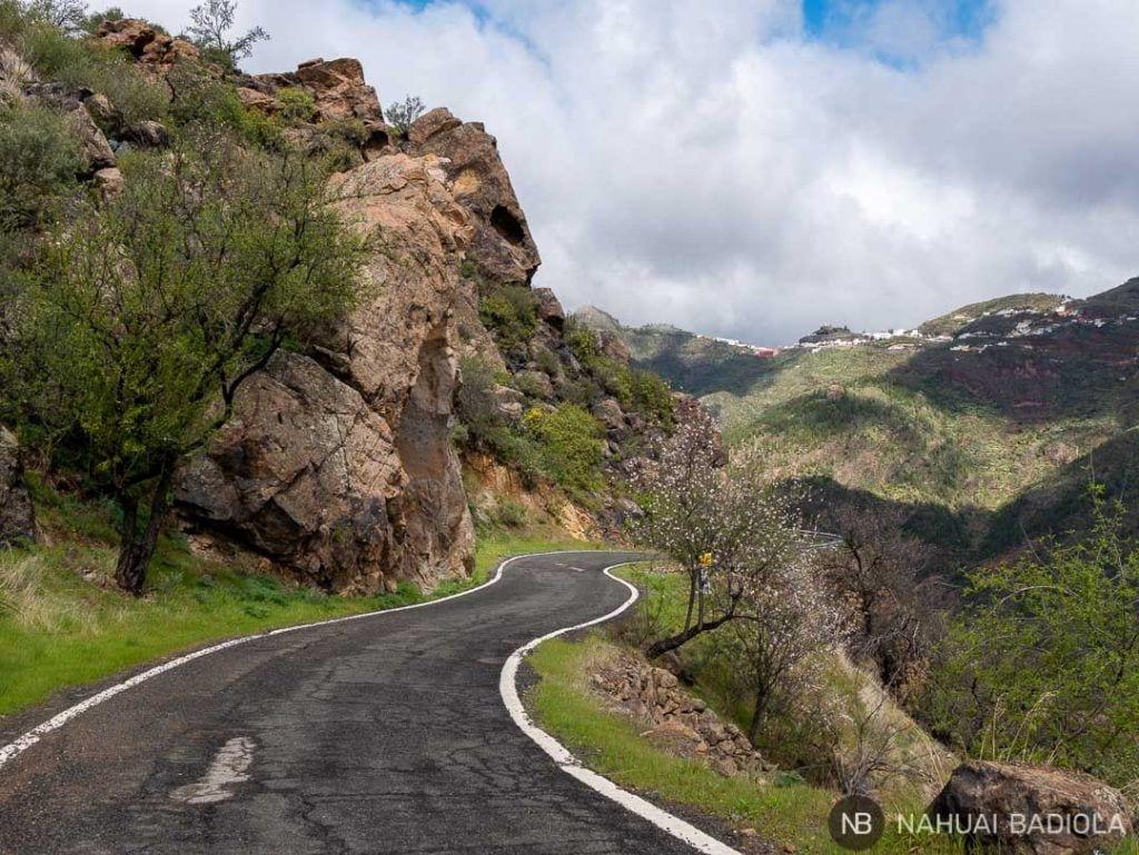 Comienzo de la ruta circular alrededor de Bentaiga, Gran Canarias