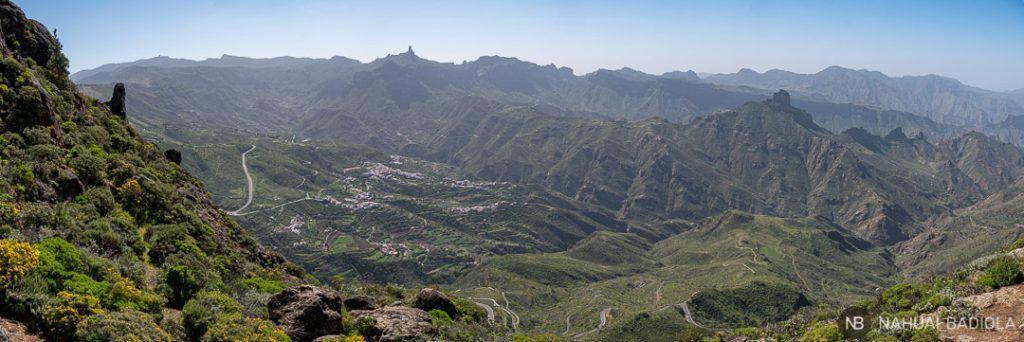 Vistas de Gran Canarias desde las Cuevas del Caballero