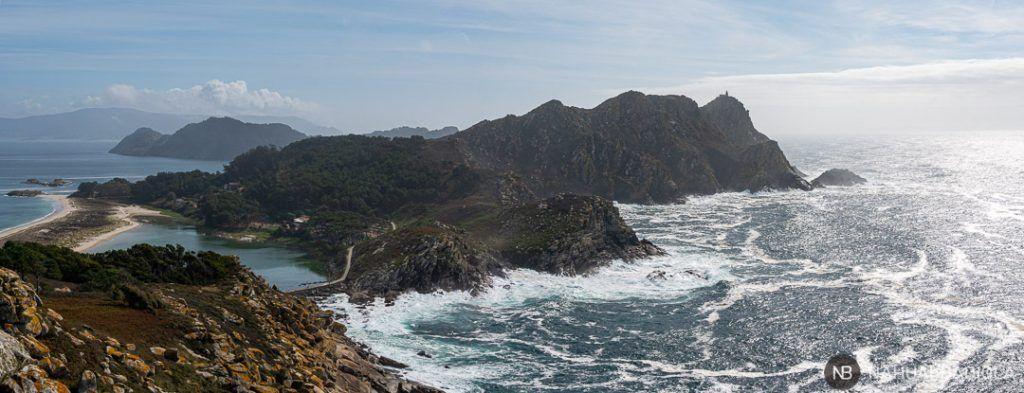 Vista de la isla del Medio, Cíes