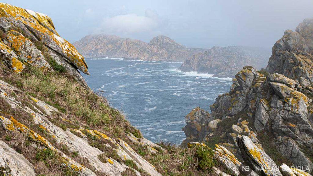 Vistas desde el faro de cíes, Galicia.